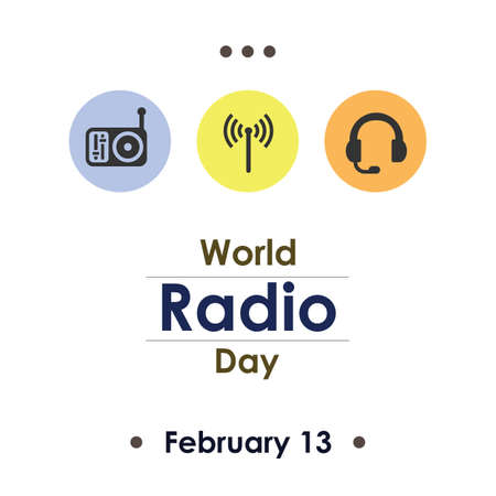 Vector illustration / World Radio Day Illustration