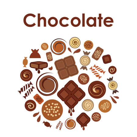 vector illustration / chocolate  / circle design Illustration