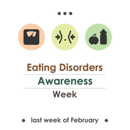 vector illustration / Eating Disorders Awareness Week