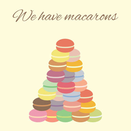 vector illustration / macarons pyramid Illustration