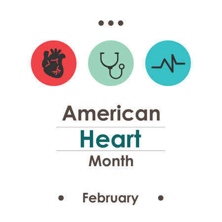 vector illustration / American Heart Month Illustration