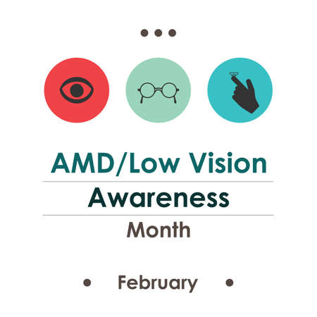 vector illustration / Low Vision Awareness Month Illustration