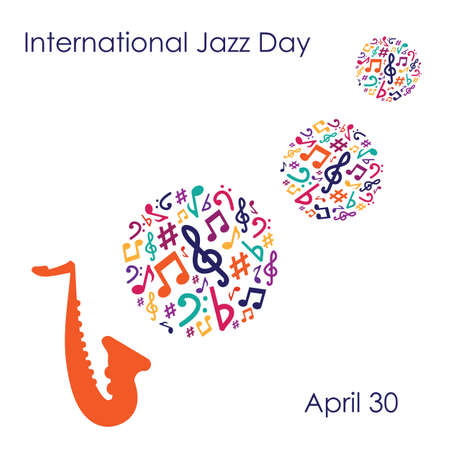 vector illustration / international jazz day