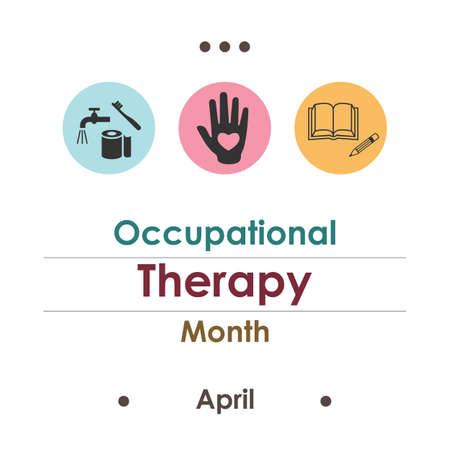 occupational therapy month Illustration