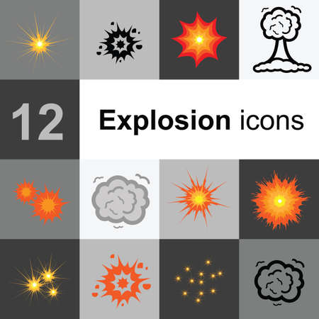 different explosions icons Banque d'images - 152395033