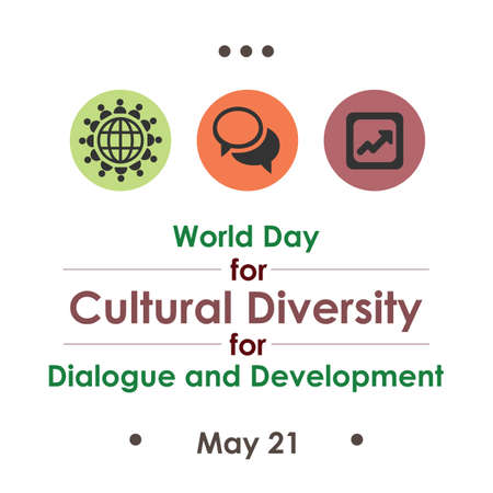 vector illustration / World Day for Cultural Diversity for Dialogue and Development Illustration