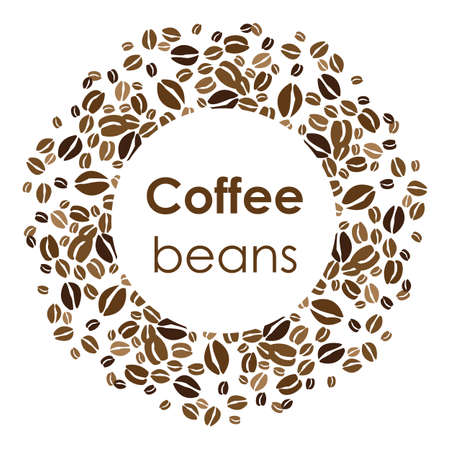 vector illustration / coffee beans / circle design Banque d'images - 152428627