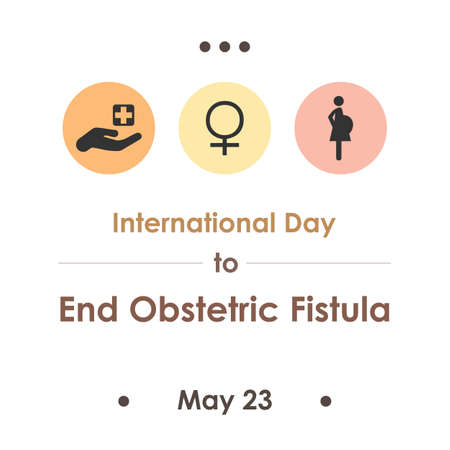 vector illustration / International Day to End Obstetric Fistula