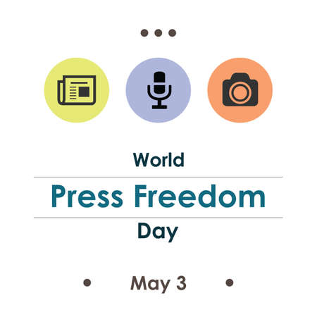 vector illustration / World Press Freedom Day