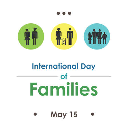 vector illustration / International Day of Families