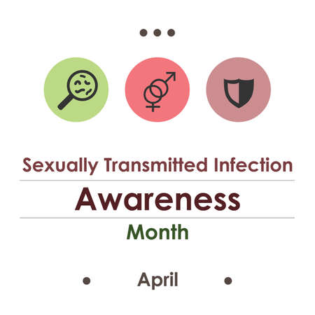 vector illustration / sexually transmitted infections awareness month
