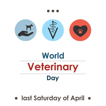 vector illustration / world veterinary day