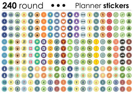 vector illustration / planner stickers / only circles set