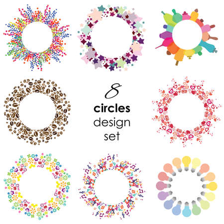 vector illustration / circle designs set