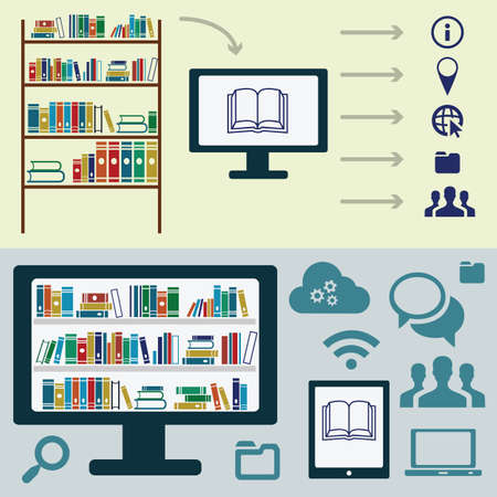 vector illustration / website banners / electronic libraries