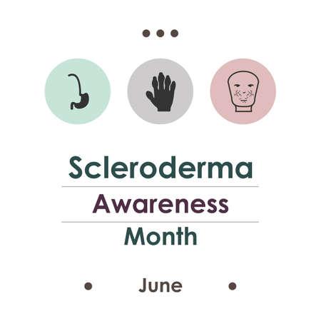 vector illustration / june is scleroderma month Illustration
