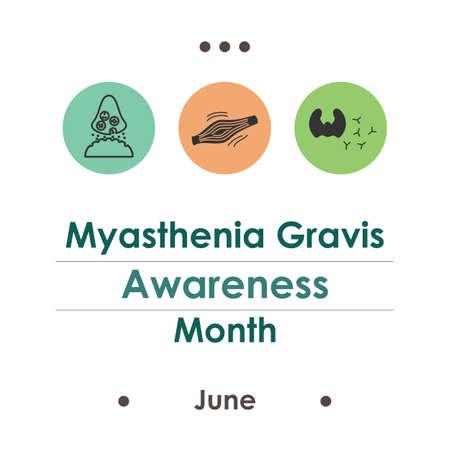 vector illustration / june is myasthenia gravis month