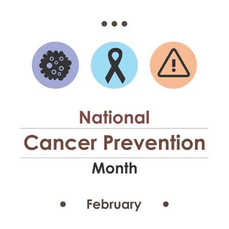 vector illustration / cancer prevention month Illustration