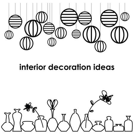 vector illustration / interior decorative elements