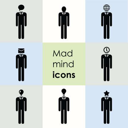 vector illustration / man sign / mind illustration Banque d'images - 153444909