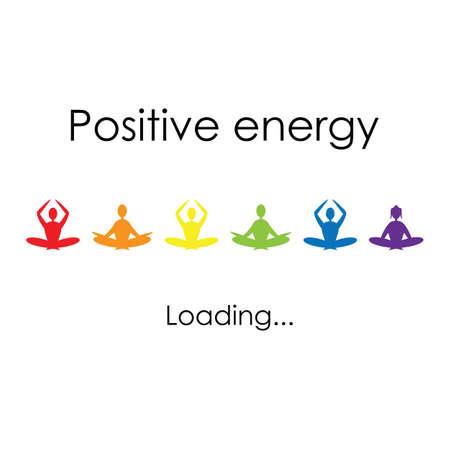 vector illustration / positive energy  loading / motivation poster Banque d'images - 153444910