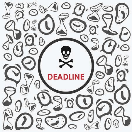 vector illustration / motivation poster / deadline time image Banque d'images - 153444912