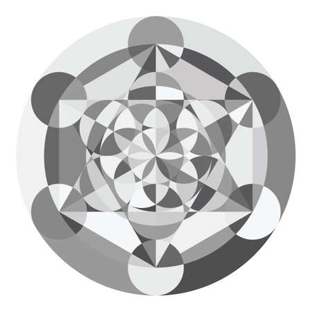 vector illustration / flower of life / sacred geometry / ancient symbol Çizim