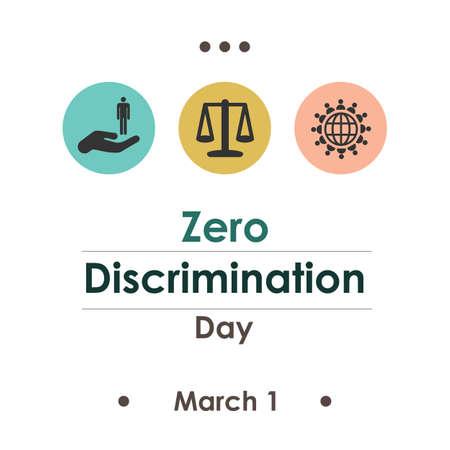 Vector illustration / zero discrimination day