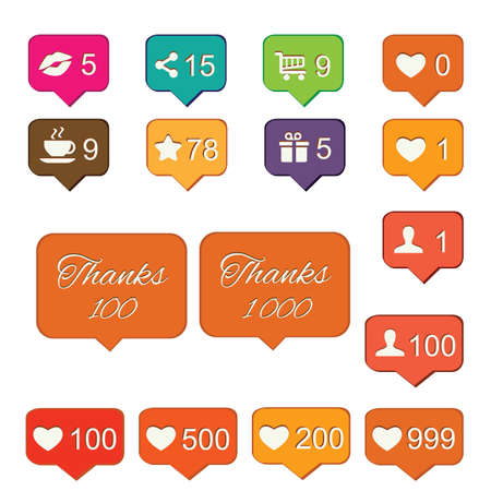 vector illustration / social media / icons and notifiers Ilustrace
