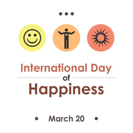 Vector illustration / international day of happiness Ilustrace