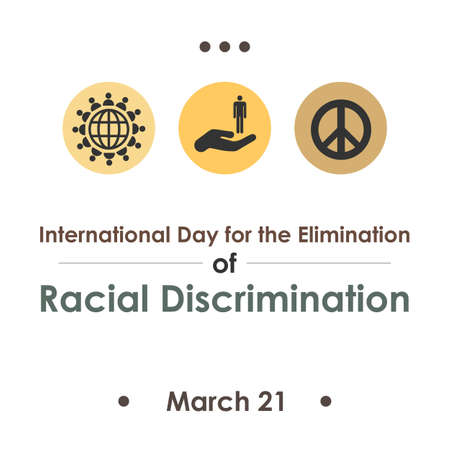Vector illustration / elemination of racial discrimination day