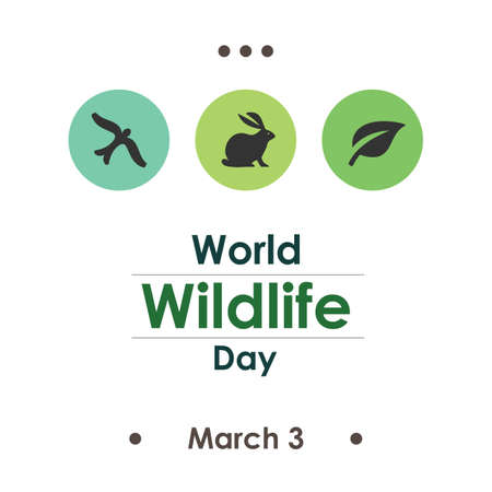 Vector illustration / world wildlife day