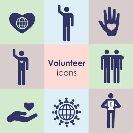 vector illustration / icons set / volunteerism
