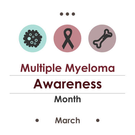vector illustration / multiple myeloma awareness month