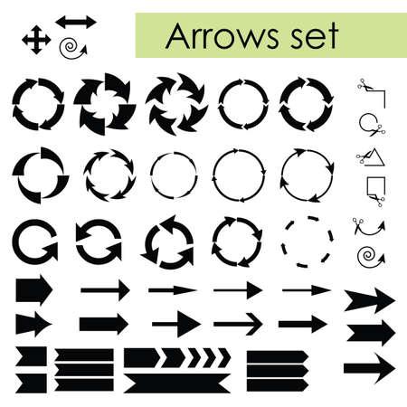 vector illustration / arrows set / basic black Banque d'images - 154816069