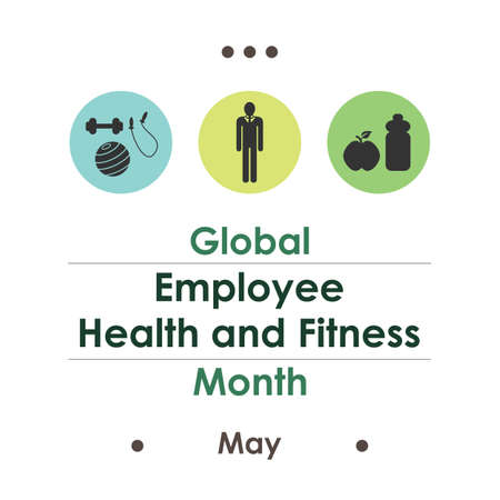 vector illustration / Global Employee Health and Fitness Month