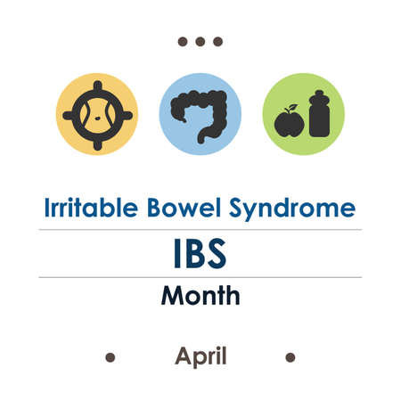 vector illustration of irritable bowel syndrome month