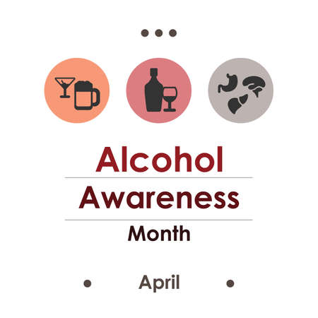 vector illustration of alcohol month in April Ilustración de vector