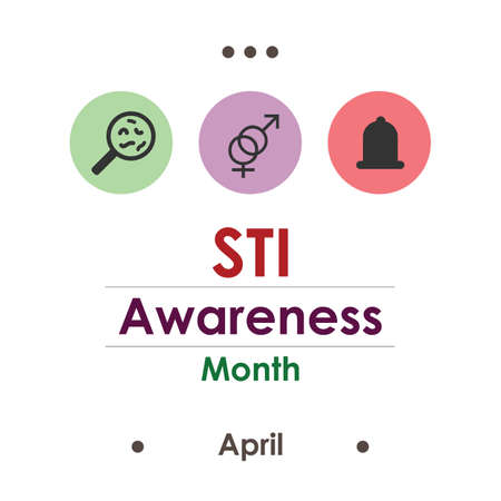 vector illustration of sexually transmitted infections awareness month Illustration