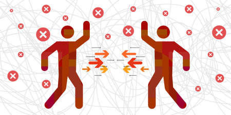 vector illustration competing style of conflict resolution argue managing strategy