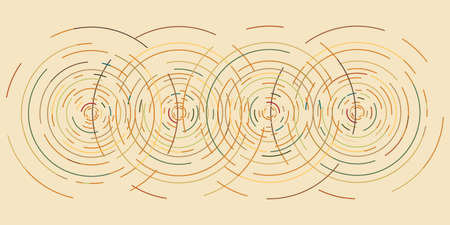 vector illustration of concentric circles ripples vibration waves background in retro sepia color theme 일러스트