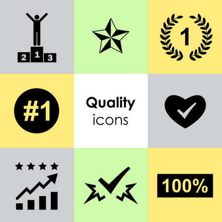 vector illustration for different success and victory and awards icons set 일러스트