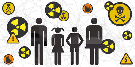 vector illustration of dysfunctional family toxic relationship violence problematic social environment