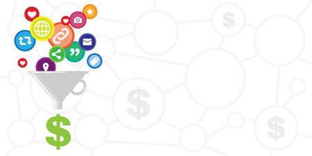 vector illustration of content monetization and social media advertisement visuals