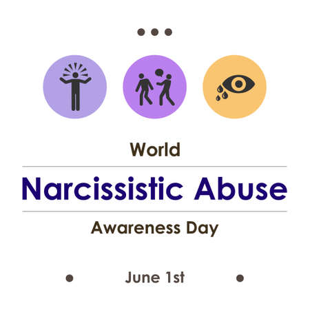 vector illustration of narcissistic abuse awareness day in June