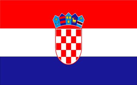 Kroatien Flagge  Vektorgrafik
