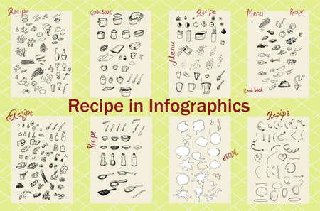 Recipe in Infographics Illusztráció