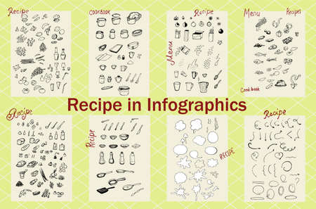 Recipe in Infographics Illustration