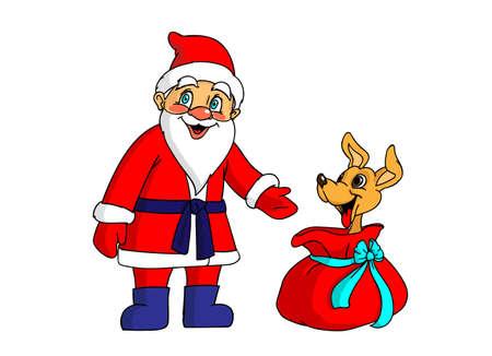 The gift from Santa Illusztráció