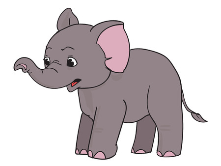 Surprised cartoon elephant